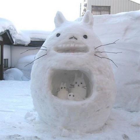totoro-snowman